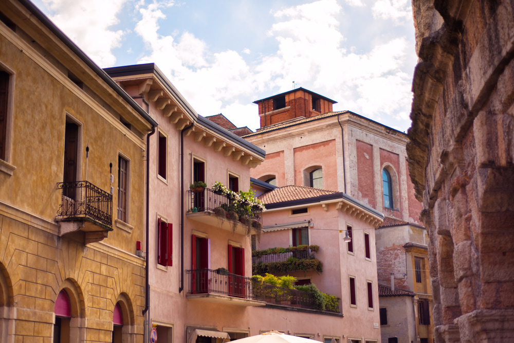 Typical houses in the centre of Verona