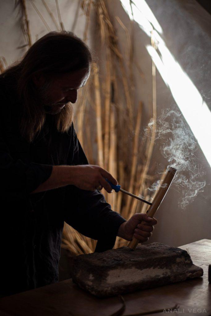 making of ancient greek flute