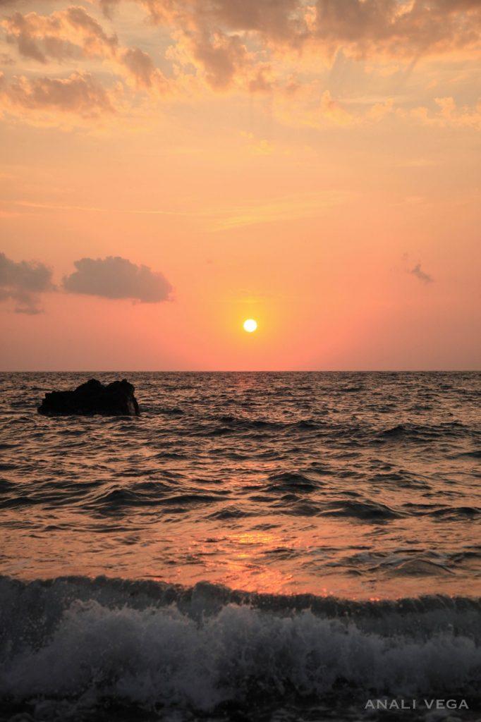 sunset katharos beach