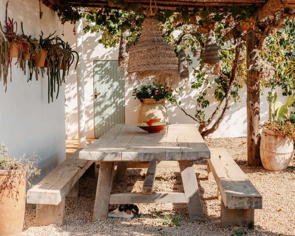 mesa jardin ibiza