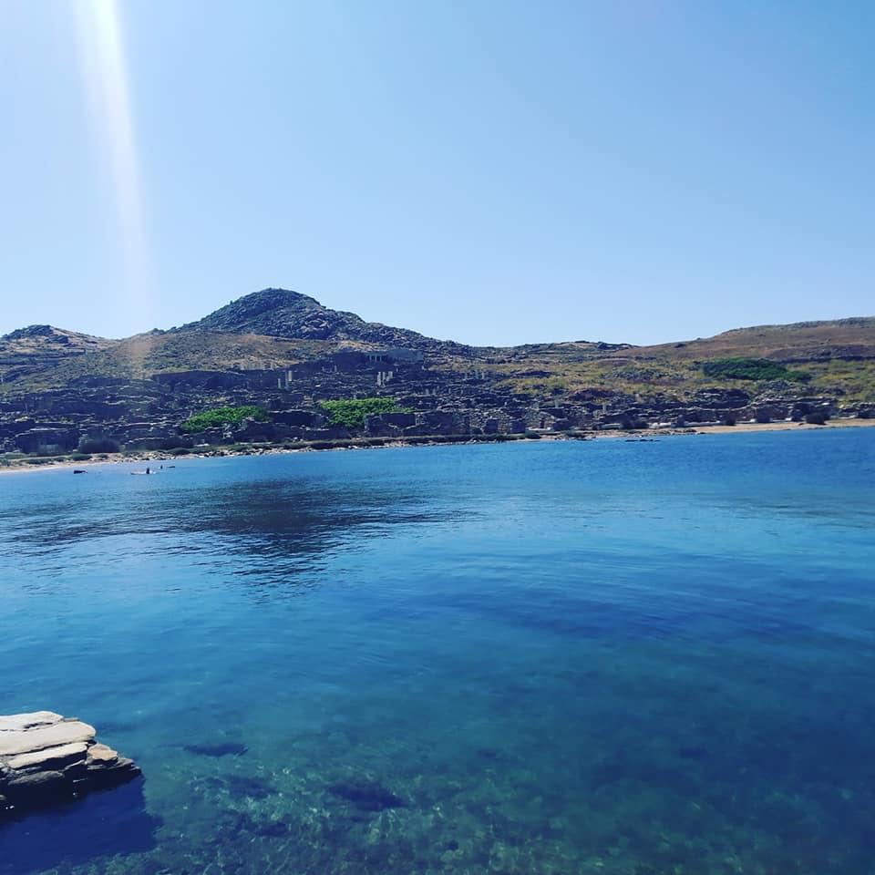 view leaving Delos