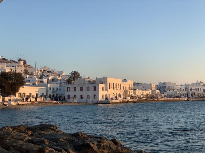 Mykonos town from Kolokytha