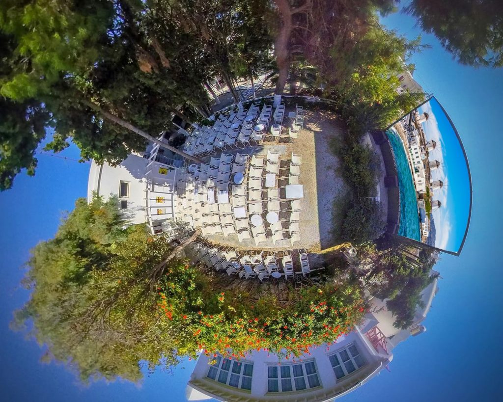 cine manto mykonos aerial view