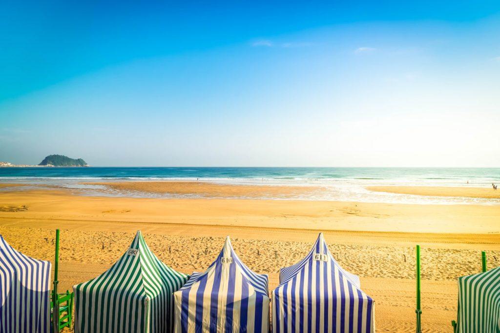 spiaggia zarauz casette