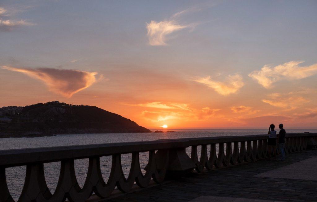 Atardecer Paseo Maritimo A Coruña