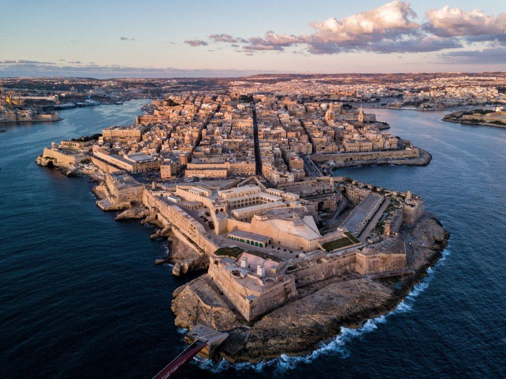 aerial view valetta