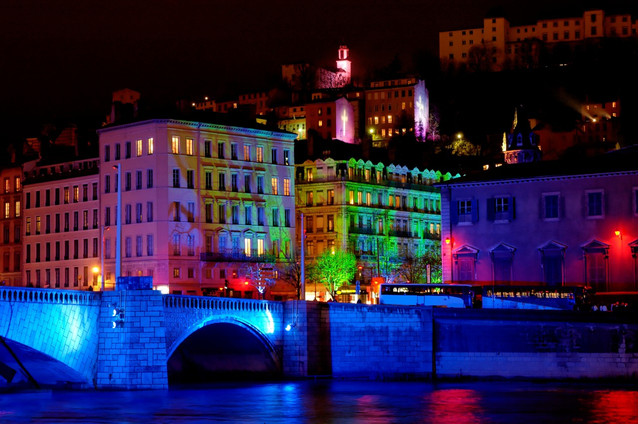 Lyon - lit up for the Festival of Lights